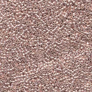 Miyuki Delica Perlen 1,6mm DB0418 dyed galvanized Light Rose 5gr