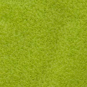 Miyuki Delica Perlen 1,6mm DB0766 transparent matt Lime Green 5gr