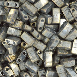 Miyuki Halb Tila Perlen 2,2x5mm galvanized luster Grey HTL1865 ca 7,8gr