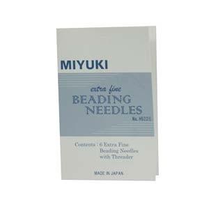 Miyuki Nadeln 6er Pack inclusive Einfädelhilfe
