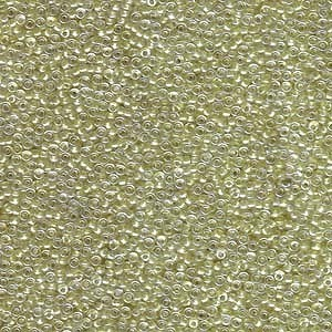 Miyuki Rocailles Perlen 1,5mm 1527 sparkle peridotlined Crystal ca 11gr