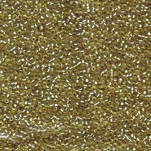 Miyuki Rocailles Perlen 1,5mm 1631 silverlined semimatt Jonquil ca 11gr
