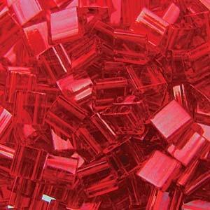 Miyuki Tila Perlen 5mm transparent red TL0140 ca 7,2gr