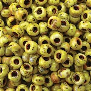 Miyuki Rocailles Picasso Perlen 4mm 4512 matt canary Yelow ca 20gr