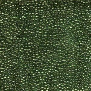 Miyuki Rocailles Perlen 1,5mm 0306 gold luster Olive Green ca 11gr