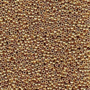 Miyuki Rocailles Perlen 1,5mm 4204 Duracoat galvanized Champagne ca 11gr
