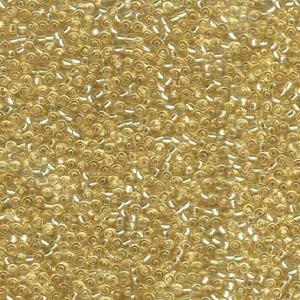 Miyuki Rocailles Perlen 2,2mm 0002 oder 9660-114 silverlined Topaz light ca 10gr