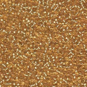 Miyuki Rocailles Perlen 2mm 0003 transparent silverlined Gold 12gr