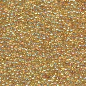 Miyuki Rocailles Perlen 2mm 0251 transparent rainbow Light Gold 12gr