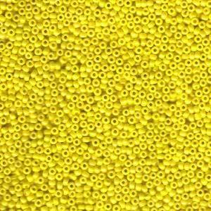 Miyuki Rocailles Perlen 2mm 0422 opaque luster Yellow 12gr
