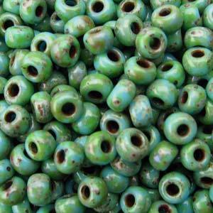Miyuki Rocailles Perlen 2mm 4514 matt Picasso Seafoam Green ca 23gr