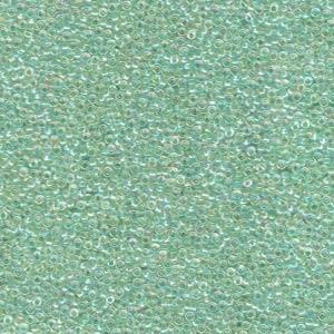 Miyuki Rocailles Perlen 1,5mm 0277 inside colorlined Lime AB ca 11gr