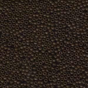 Miyuki Rocailles Perlen 1,5mm 0409 opaque Dark Brown ca 11gr