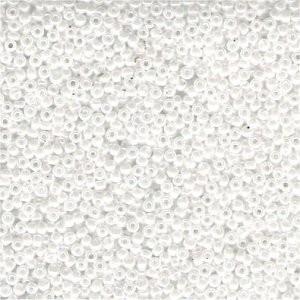 Miyuki Rocailles Perlen 3mm 0420 opaque luster White ca 13gr
