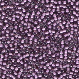 Miyuki Rocailles Perlen 3mm 2650 inside colorlined Light Rose - Violet ca 13gr