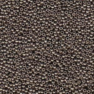 Miyuki Rocailles Perlen 3mm 4222 Duracoat galvanized Pewter ca 22gr