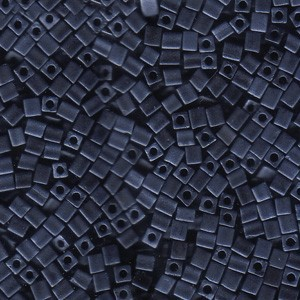 Miyuki Würfel Perlen, Cube, Square Beads 3mm 2001 metallic matt Blue - Grey 20gr