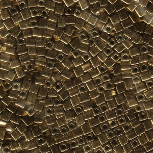 Miyuki Würfel Perlen, Cube, Square Beads 3mm 0457 metallic Bronze 20gr
