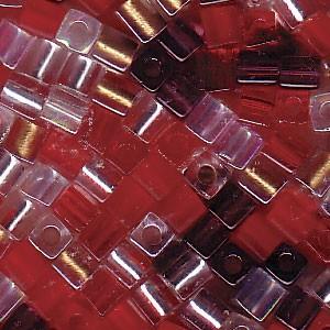 Miyuki Würfel Perlen 3mm Mix05 Strawberry Fields ca 20 Gr.