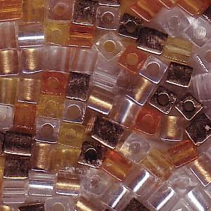 Miyuki Würfel Perlen 3mm Mix22 Honey Butter ca 25 Gr.