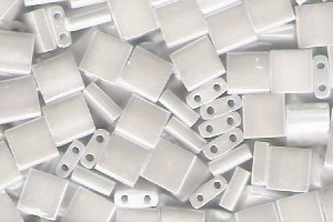 Miyuki Tila Perlen 5mm White Pearl TL0420 7,2gr