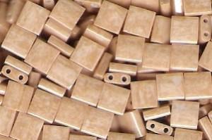 Miyuki Tila Perlen 5mm Light Caramel Ceylon TL0593 7,2gr