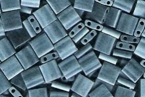 Miyuki Tila Perlen 5mm Blue Grey Matt TL2001 7,2gr