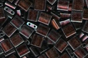 Miyuki Tila Perlen 5mm Metallic Copper Matt TL2005 7,2gr
