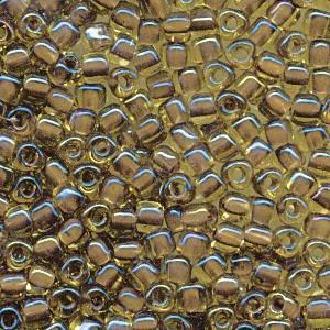 Miyuki Dreieck Perlen, Triangle Beads 2,5mm 1162 colorlined Gold Brown 13gr