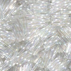 Miyuki Stäbchen Perlen gedreht 12mm 0250 transparent rainbow Clear ca14gr.